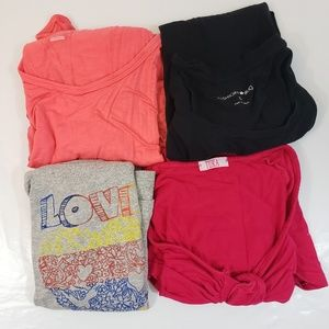 Women Size L Tank Tops Tee Shirts Lot of 4